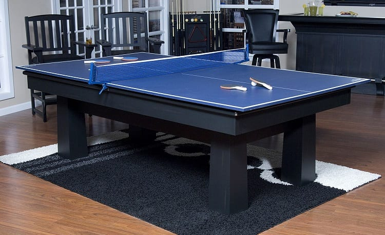 conversion set on billiard table
