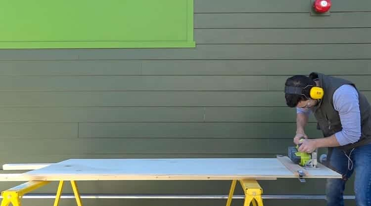 Man Making Ping Pong Table