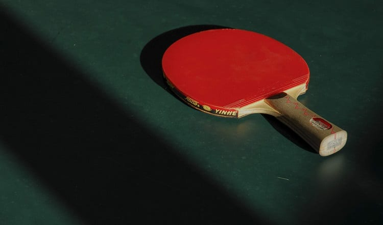 Red Rubber Ping Pong Paddle