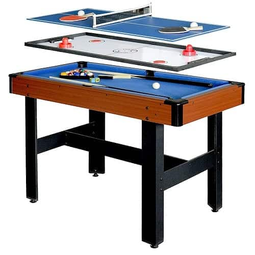 Hathaway BG1131M Triad 3-in-1 48-in Multi Game Table with Pool