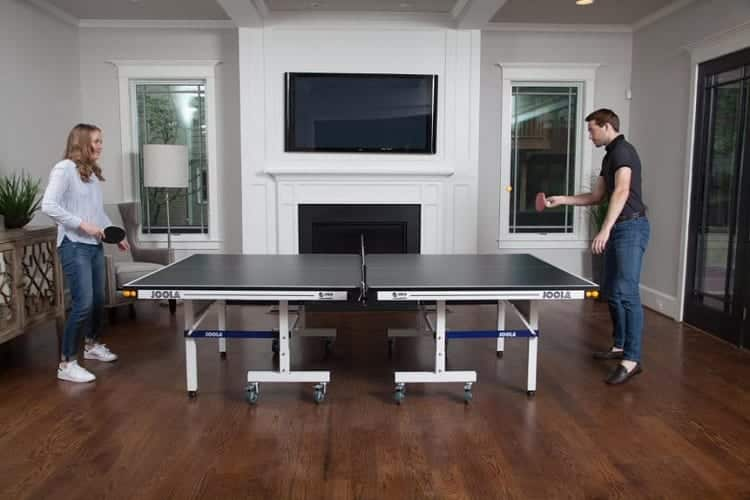 Couple Playing Ping Pong