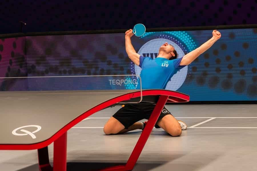 Teqpong Innovative Racket Sport Played On Teqball Table