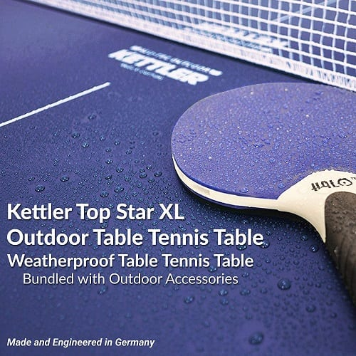 Rain Drops On Ping Pong Table
